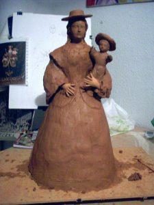 Virgen de Araceli en proceso