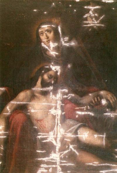 lienzo Virgen Piedad