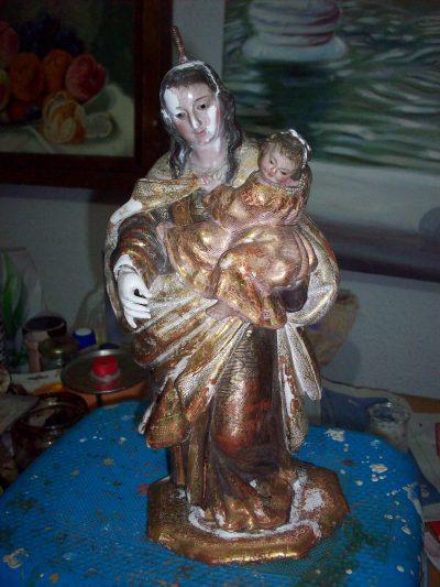Virgen del Carmen siglo XVII   Luisa Roldán (Campillos de Atenas)