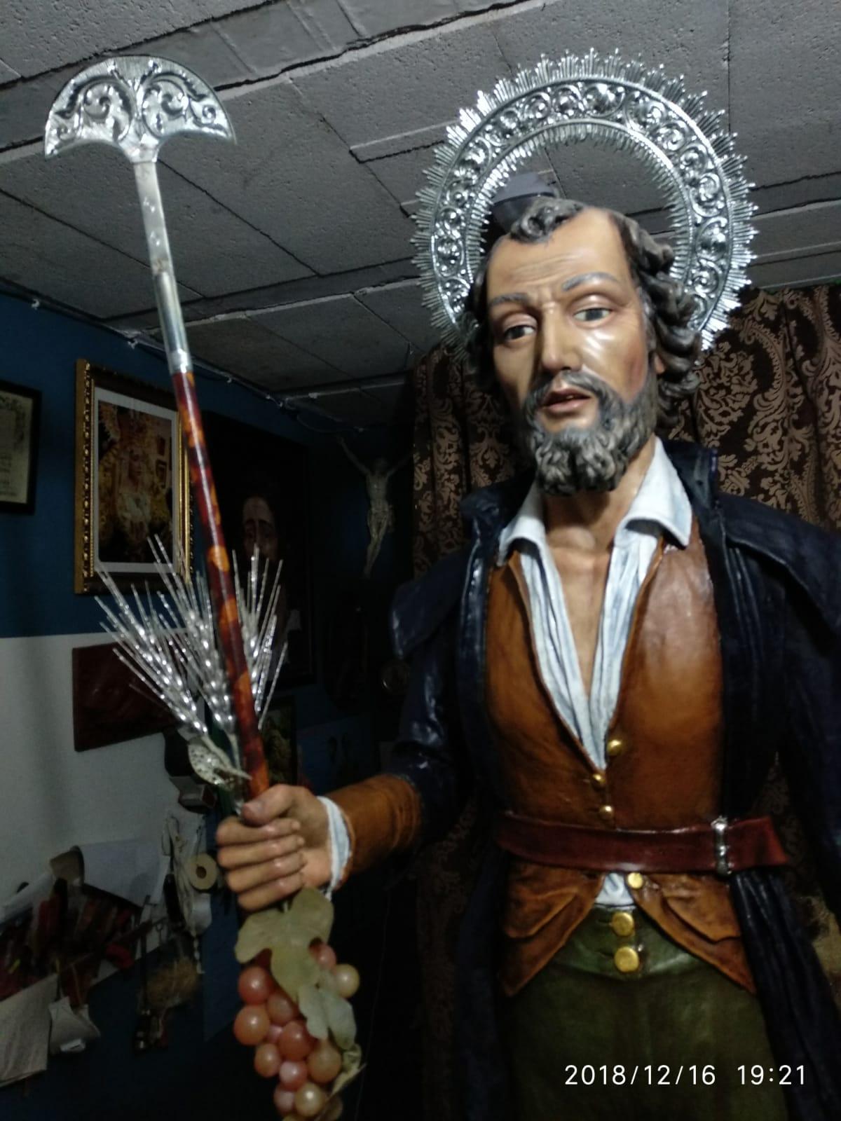 San Isidro Labrador siglo XIX autor Pedro Muñoz de Toro,  Monturque